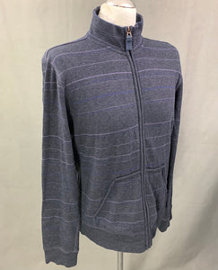 HUGO BOSS Mens ZACCUR Blue JERSEY JACKET - Size M Medium