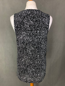 NICCE London Ladies Black & White Patterned Vest Top - Size Small - S