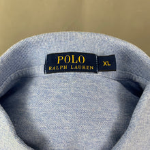 Load image into Gallery viewer, POLO RALPH LAUREN Mens Blue Long Sleeved POLO SHIRT Size XL Extra Large