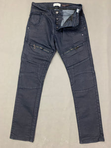 "883 POLICE Mens CASSADY Blue Denim Regular Fit JEANS Size Waist 32"" - Leg 30"""