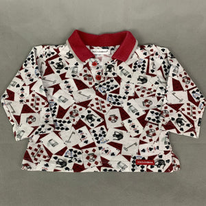 DOLCE & GABBANA Playing Cards POLO SHIRT - Size Age 3 - 6 Months
