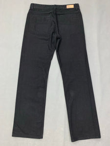 "FRED PERRY Mens Black Denim Straight Leg JEANS Size 32R Waist 32"" Leg 32"""