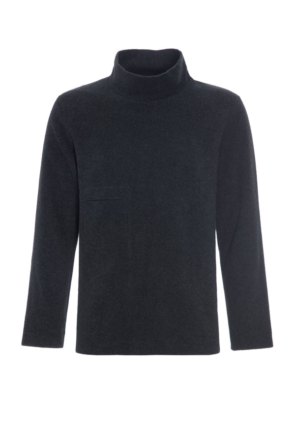 CARL BY STEFFENSEN COPENHAGEN Sweater med høj hals - 1003 SWEATER SOFT BLACK 914