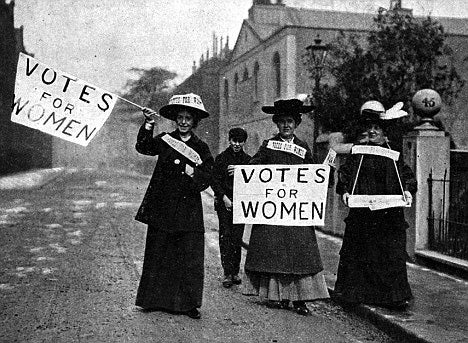 Happymash Suffragettes With Votes For Women Signs