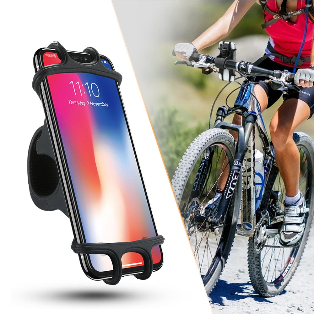 Bike Phone Holder Silicone Adjustable