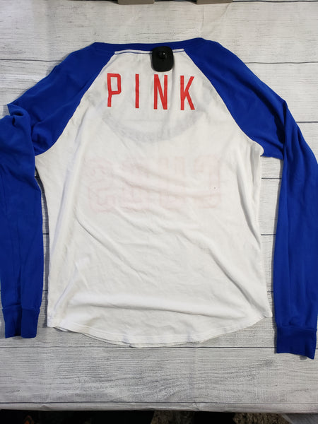 Pink By Victoria's Secret Womens Long Sleeve Top Medium - Plato's Closet Batavia