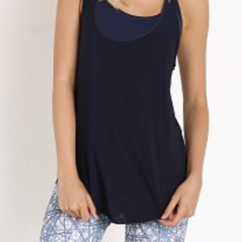 Onzie Glossy Flow Tank in Navy