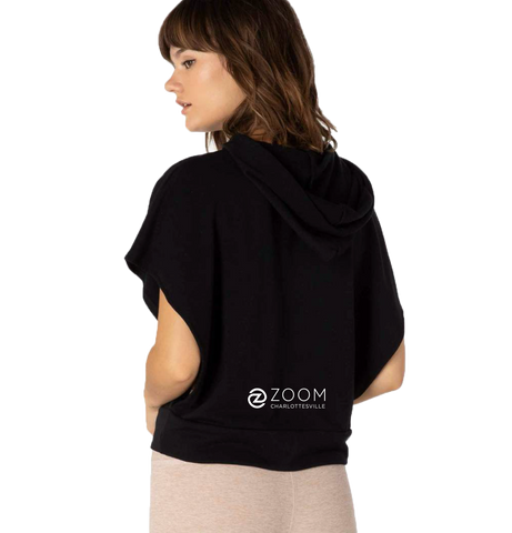Beyond Yoga Open Side Hoodie with Zoom Charlottesville Logo
