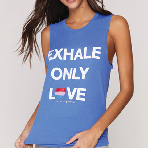 Exhale Only Love Muscle Tank