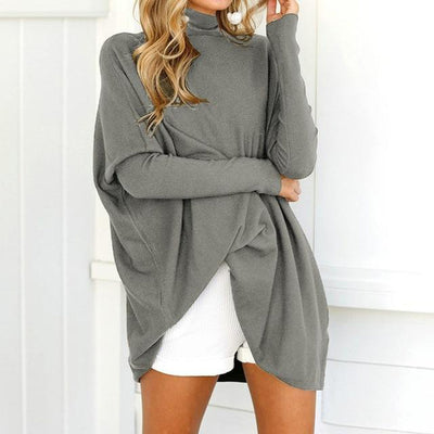 Turtleneck Long Sleeve Oversized Pullover