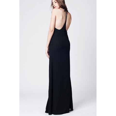 Black Dress with open back