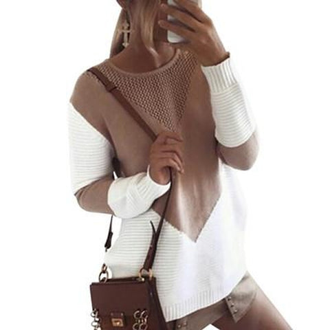 Llong sleeve casual knitted jumpers