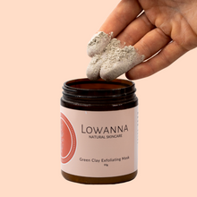 Load image into Gallery viewer, Green Clay Exfoliating Mask - Lowanna Skin Care