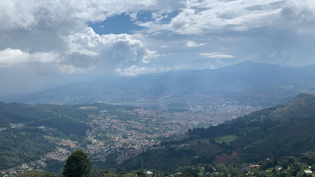 One of the many views above Medellín!