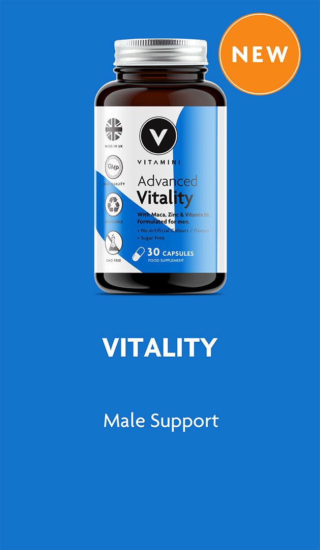 NEW Advanced Vitality Product Pot. For Male Support.
