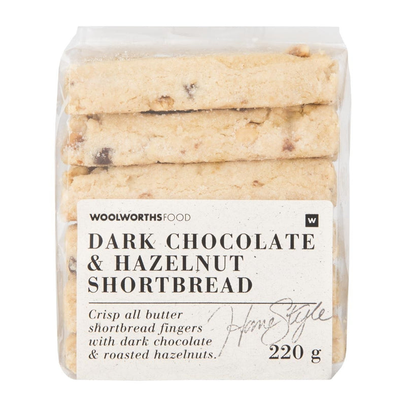 Dark Chocolate & Hazelnut Shortbread 220g