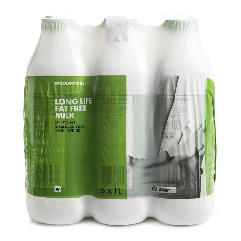 Long Life Fat Free Milk 6x1L