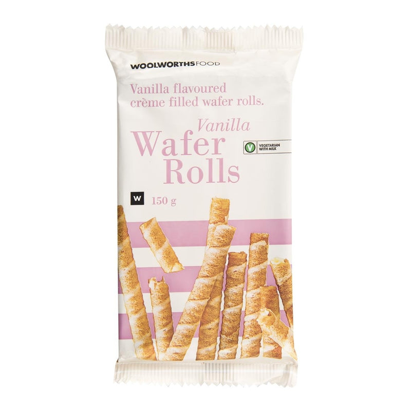 Vanilla Wafer Rolls 150g