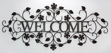 Welcome Wall Decor (Metal)