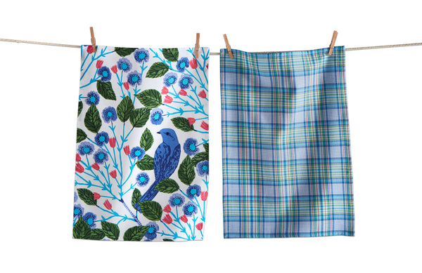 Blue Bird Dishtowel Set (2)