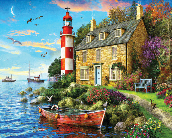 1000-Piece Puzzle, The Cottage Lighthouse