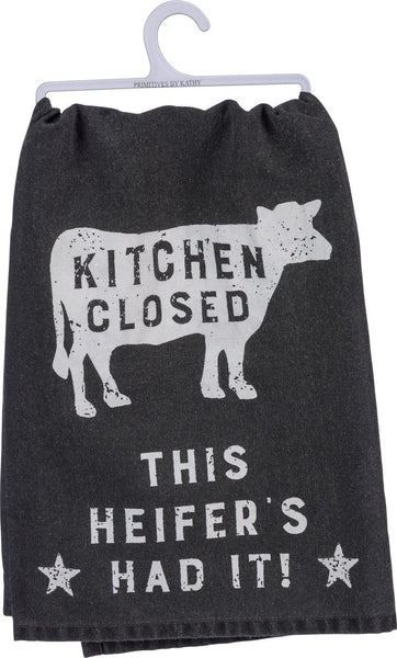 """Kitchen's Closed"" Dish Towel"