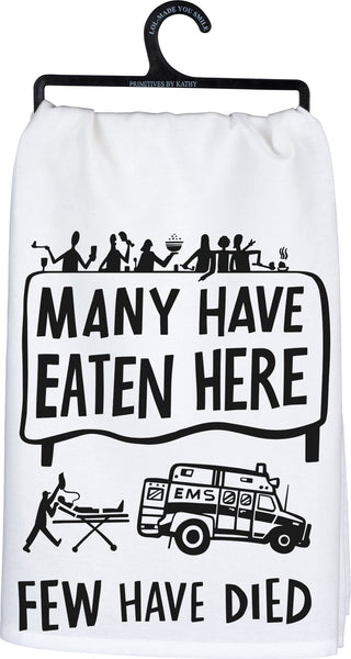 """Many Have Eaten"" Dish Towel"