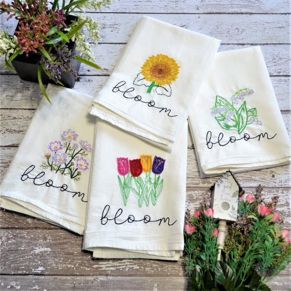 Bloom Dishtowels, Made in Elk River