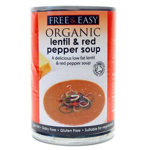 Free & Easy Lentil & Red Pepper Soup - 400g