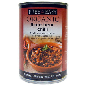 Free & Easy Natural 3 Bean Chilli - 400g