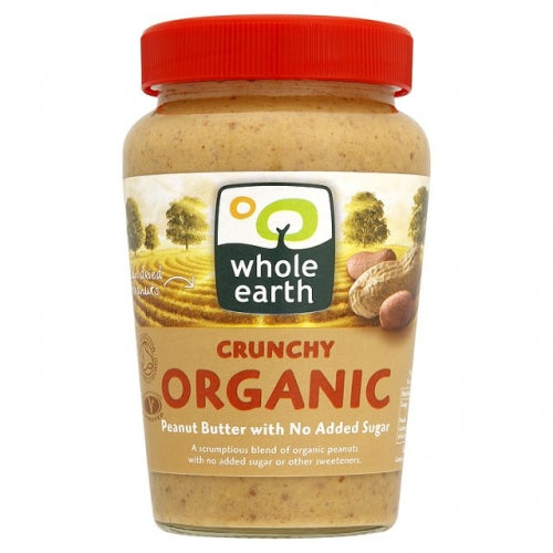 Whole Earth Organic Crunchy Peanut Butter - 227g