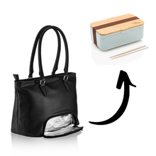 Lade das Bild in den Galerie-Viewer, Preppy Bag - Meal Prep Handtasche - Nobles Schwarz