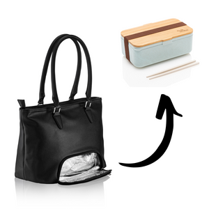 Preppy Bag - Meal Prep Handtasche - Nobles Schwarz