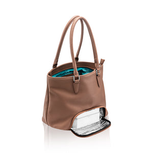 Preppy Bag - Meal Prep Handbag - Brown