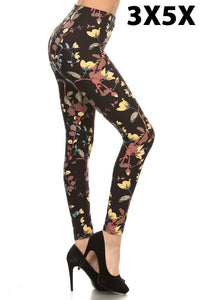 Print Leggings - Plus size 3X-5x