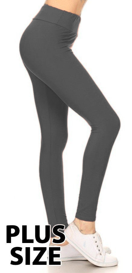 Charcoal Leggings - Plus Size XL-2X