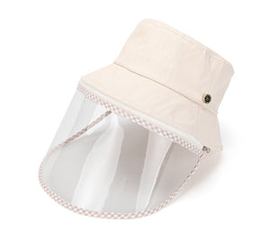 Lucete Ivory Face Shield Hat