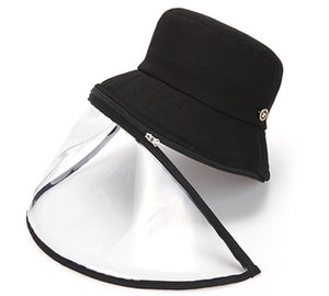 Lucete Face Shield Anti-Spitting Hat (Black : Adult Size, Kids Size)