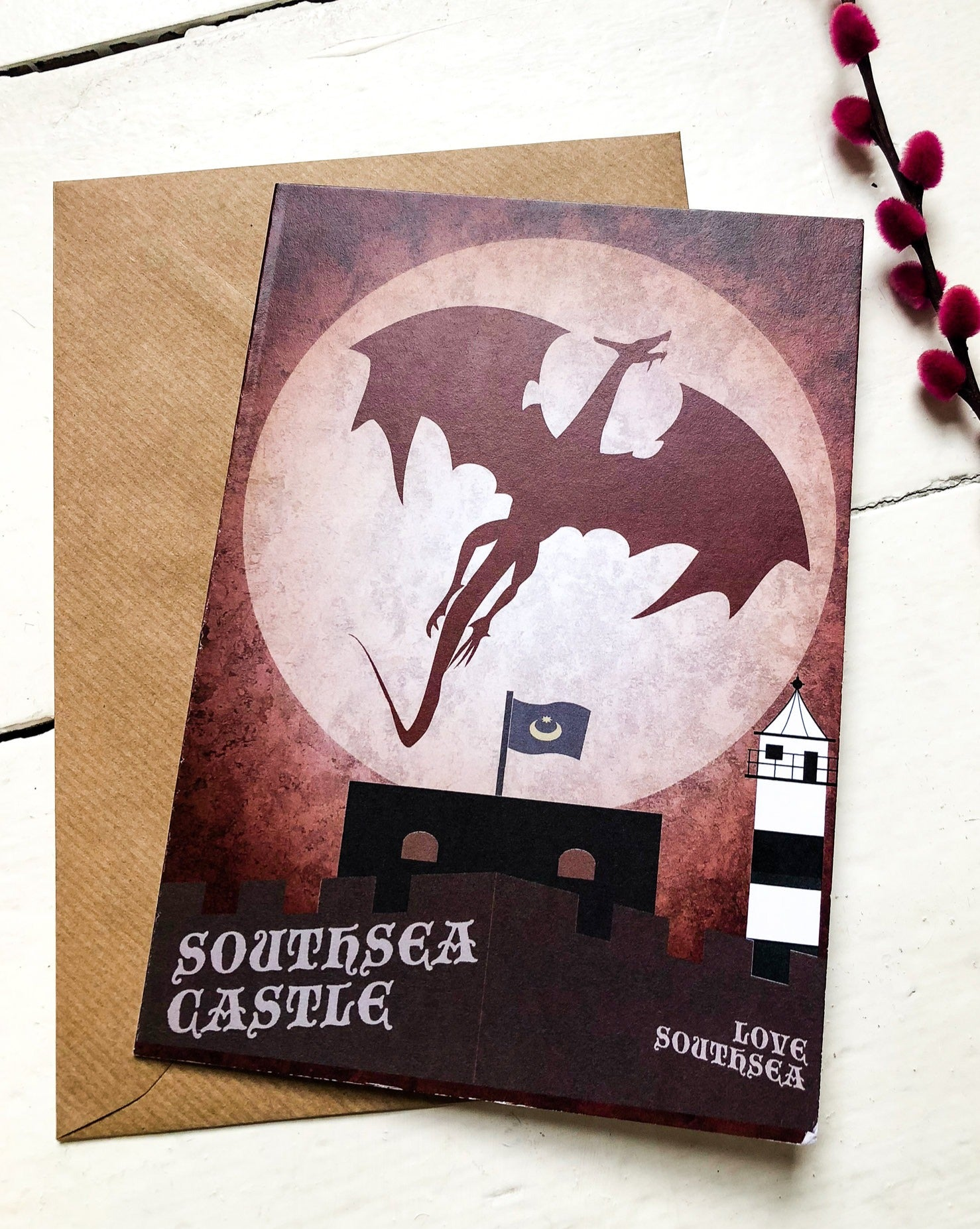 The Dragon of Southsea Castle Card