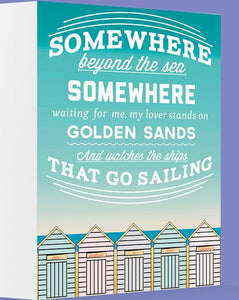 Somewhere Beyond the Sea Greetings Card