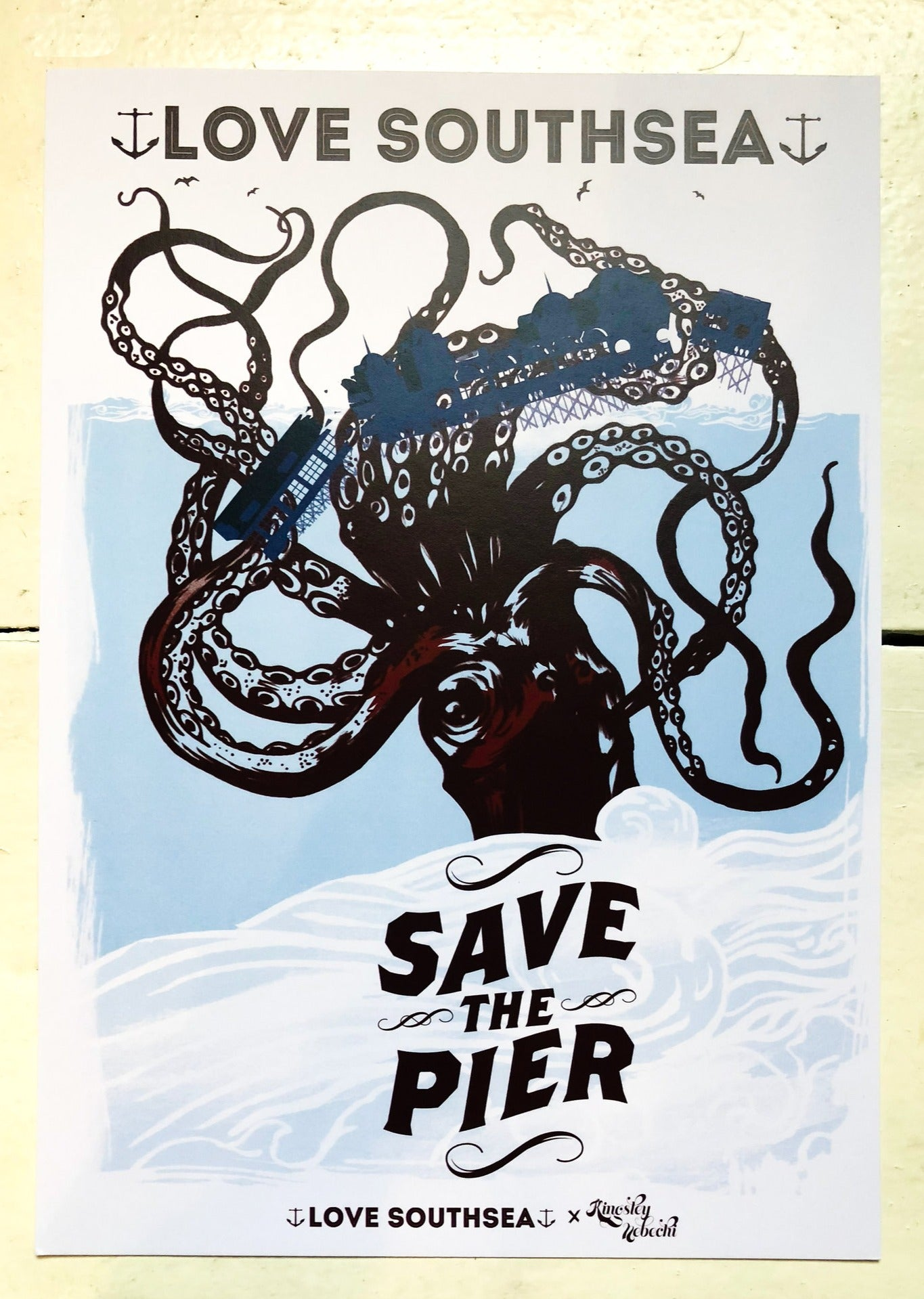 Save the Pier Kraken Print