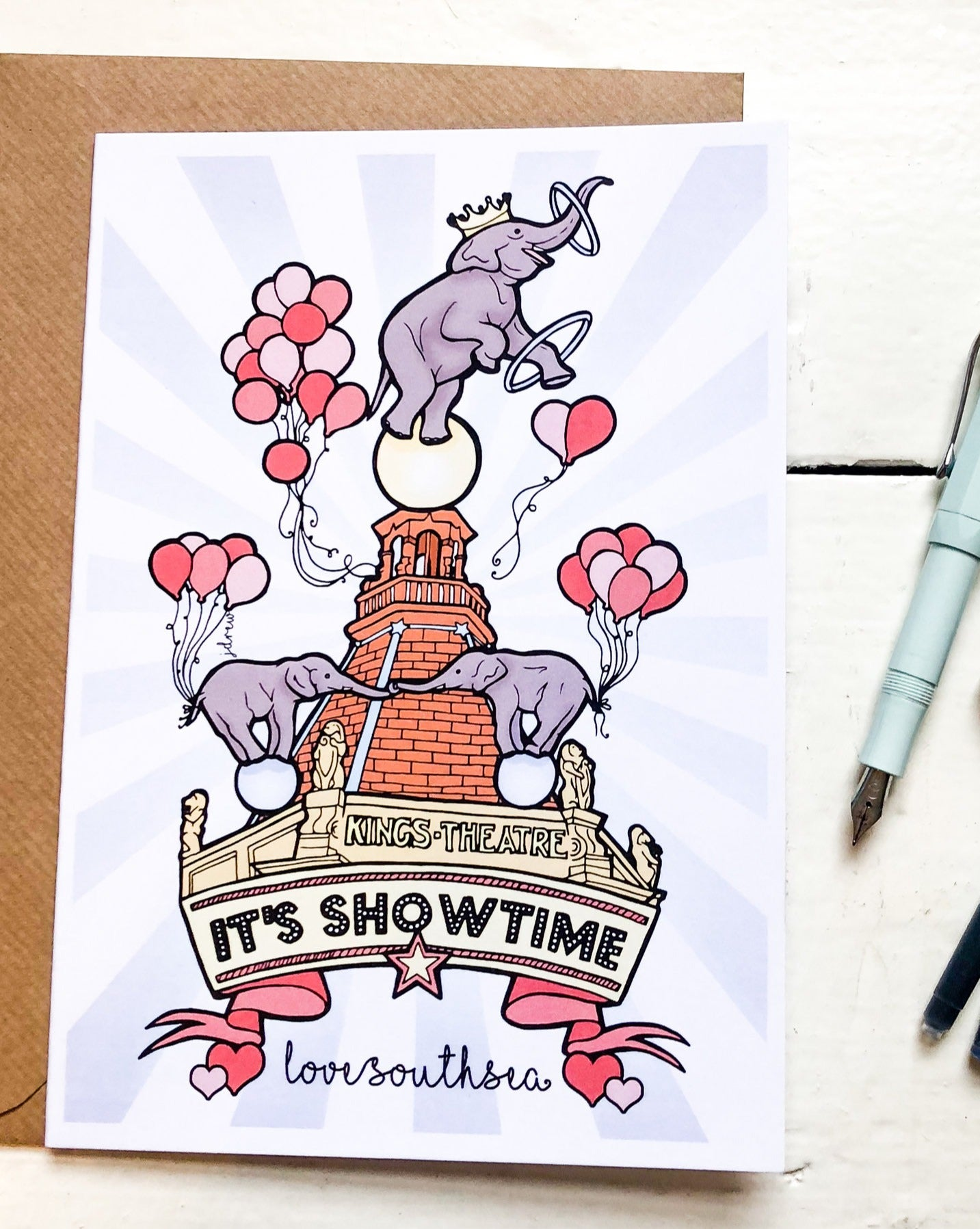 'It's Showtime' at The Kings Theatre Greetings Card