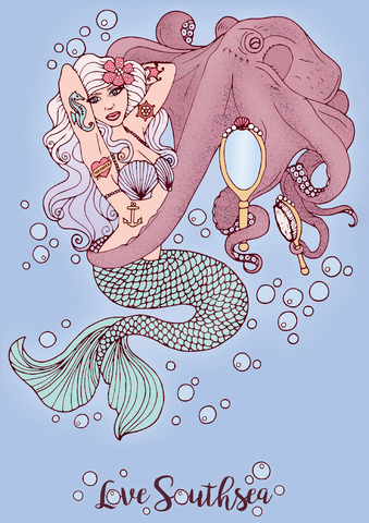 'The Octopus and the Mermaid' Print
