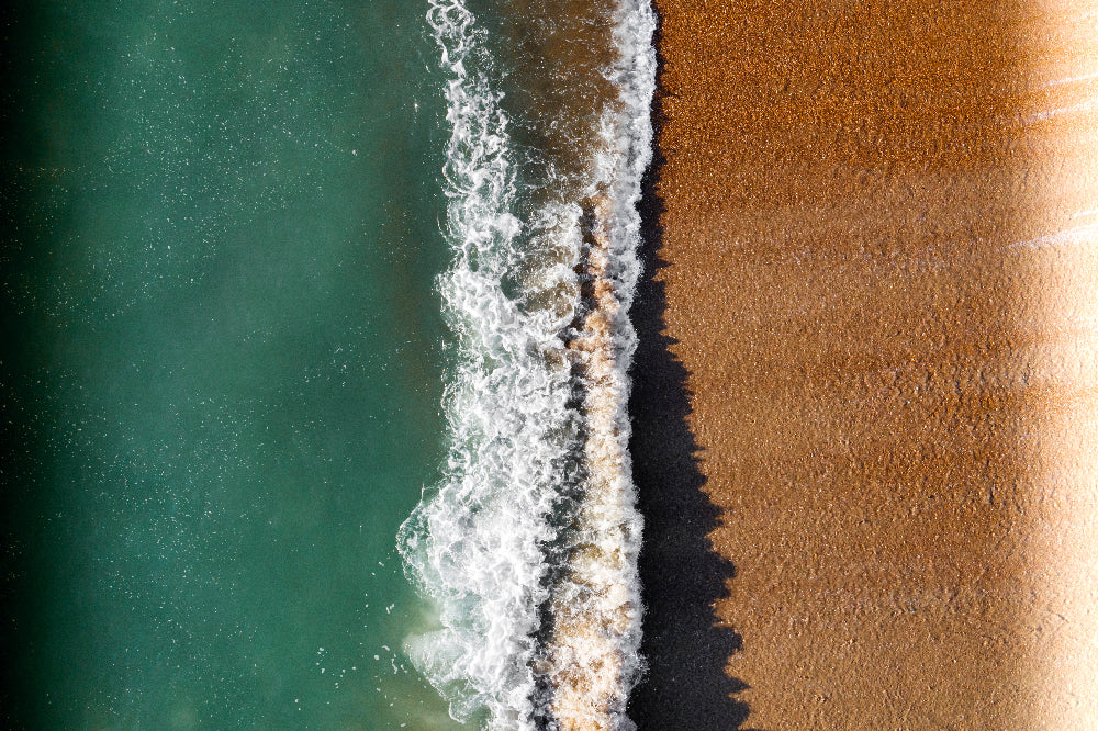 'Beach wave' Photo Aerial Drone Photo Print