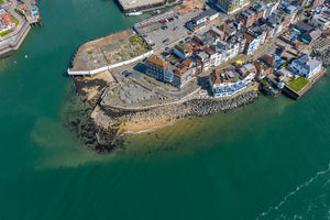 'The Point Old Portsmouth' Aerial Drone Photo Print