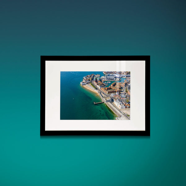 'Old Portsmouth seafront' Aerial Drone Photo Print