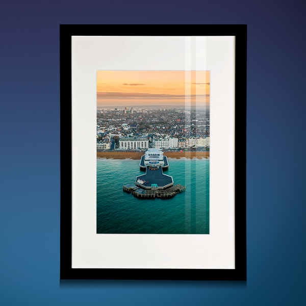 'Sunrise at South Parade Pier' Aerial Drone Photo Print