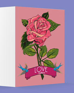 Rose of Love Greetings Card