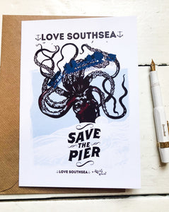 Save the Pier Greetings Card
