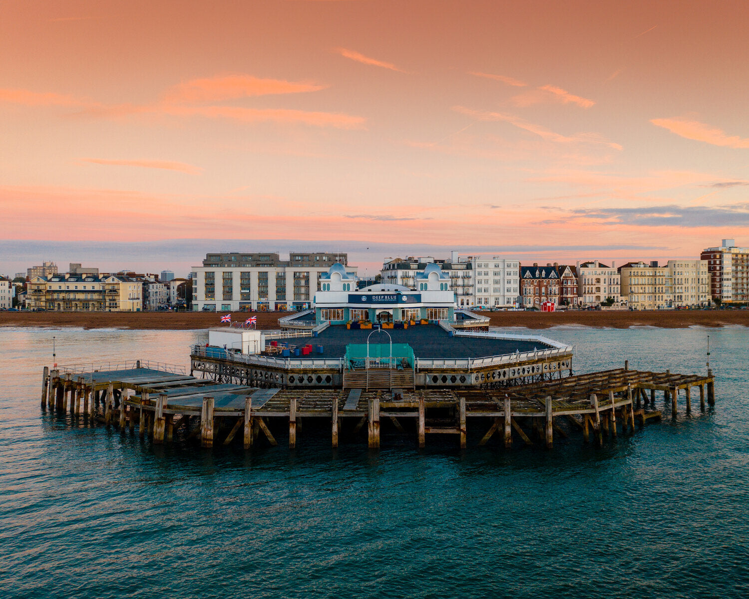 'Sunrise over South Parade Pier Southsea' Aerial Drone Photo Print